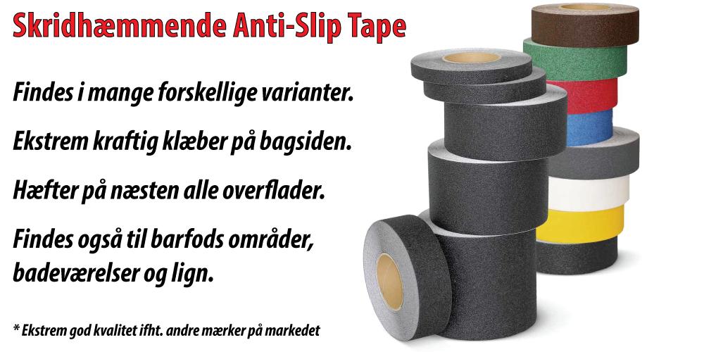 Skridhæmmende anti-slip tape (Skridsikker tape)