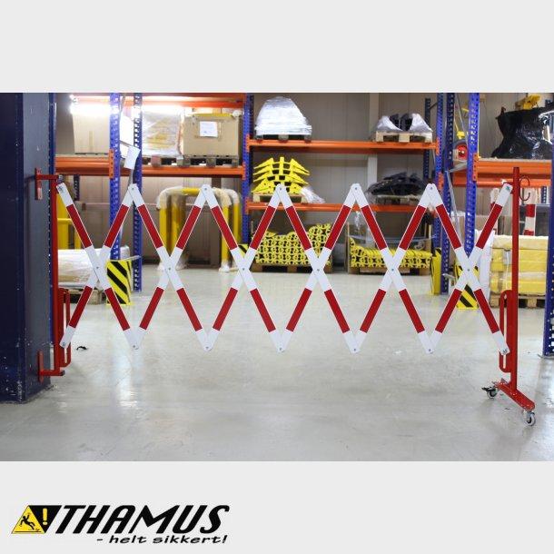 Fleksibel Afspærring - Saks 4 Meter - Rød/Hvid - 40x5mm