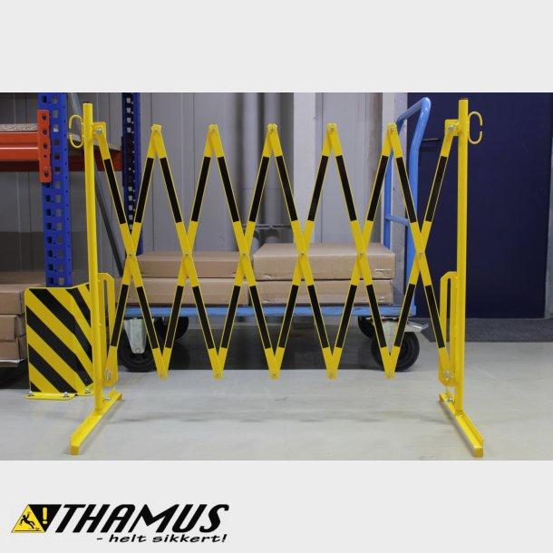 Fleksibel Afspærring - Saks 3,6 Meter - Gul/Sort - 25x4mm