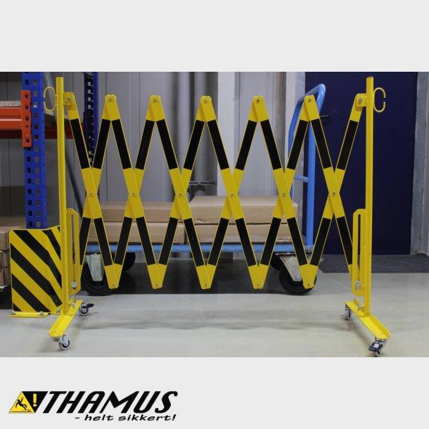 Fleksibel Afspærring - Saks 4 Meter - Gul/Sort - 40x5mm