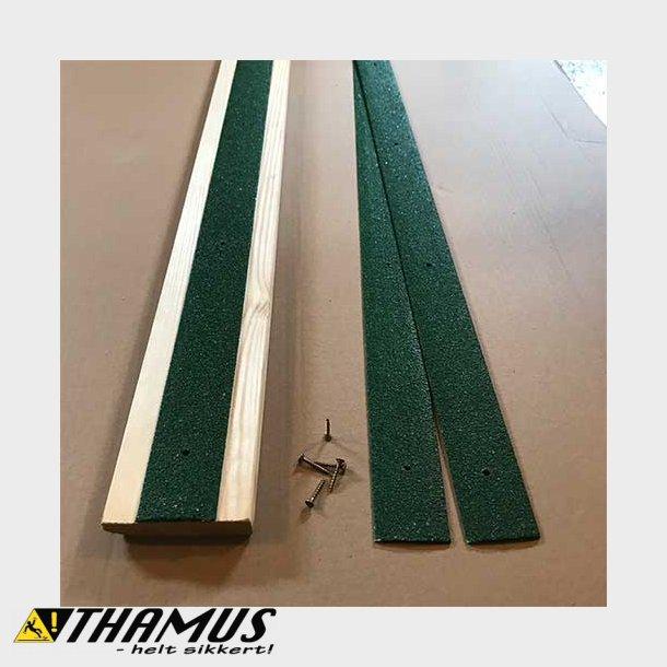 Skridsikker GRP Liste - 50x1000x3mm - Grøn
