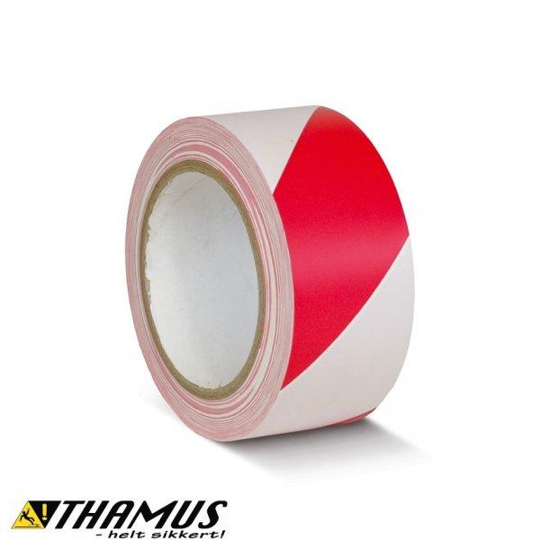 Rød/Hvid - PVC gulv markeringstape