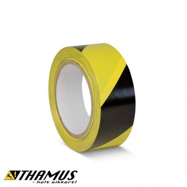Gul/Sort - PVC gulv markeringstape