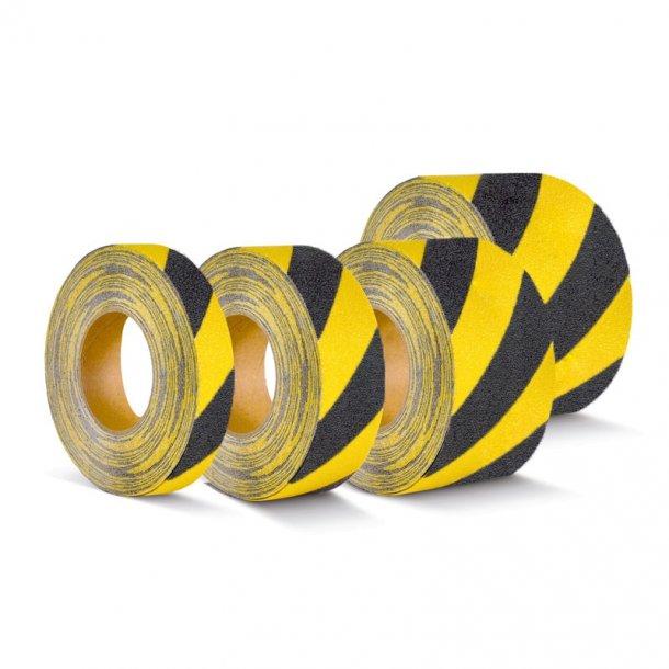 Skridsikker Tape, Gul/Sort, Formbar