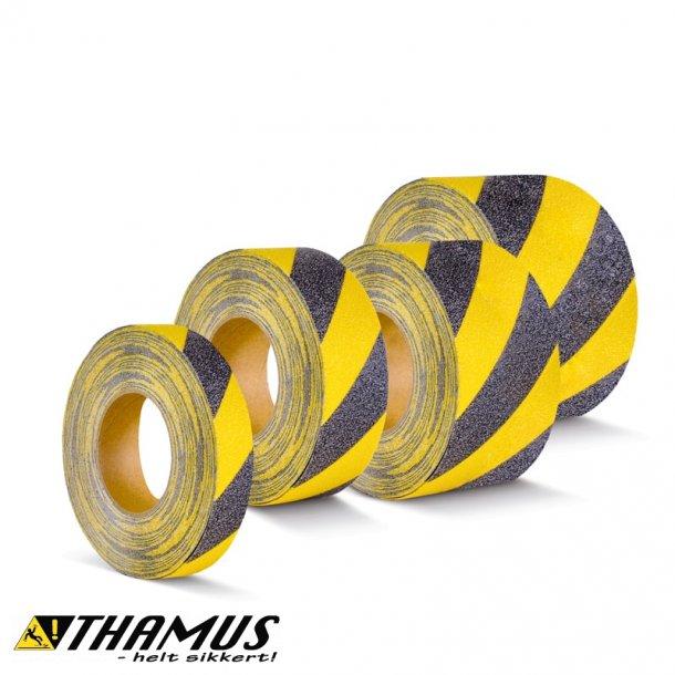 Skridsikker Tape til barfodsområder og pools - Gul/Sort - Rengøringsvenlig