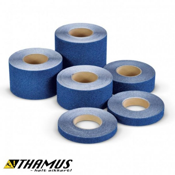 Skridsikker Tape til trapper og gulve mv. - Blå - Rulle a' 18,3m.