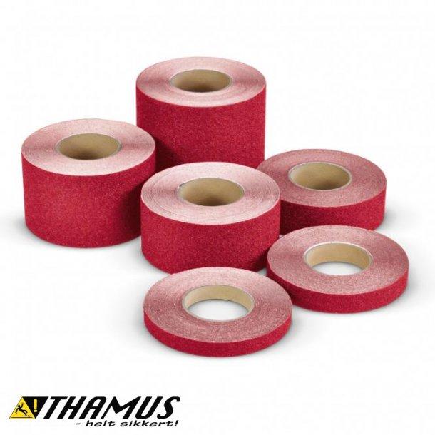 Skridsikker Tape til trapper og gulve mv. - Rød - Rulle a' 18,3m.