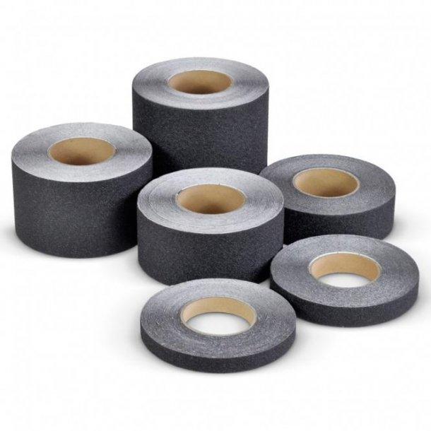 Skridsikker Tape til trapper og gulve mv. - Sort - Rulle a' 18,3 Meter