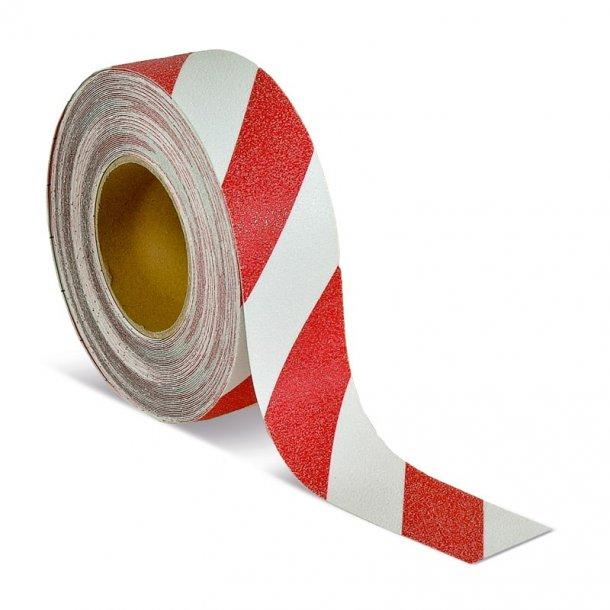 Skridsikker Tape, Rød/Hvid, Advarende