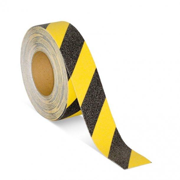 Skridsikker Tape, Gul/Sort, Advarende