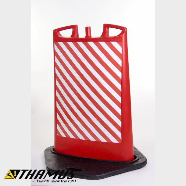 Transportabel Pullert, Rød med Rød/Hvid refleks folie