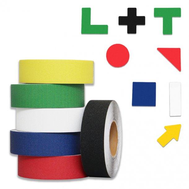 Sort - Gulvmarkerings Tape og Symboler.