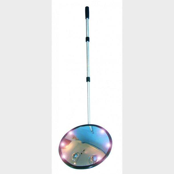Inspektionsspejl med LED lys - Akryl - Rund Ø35cm