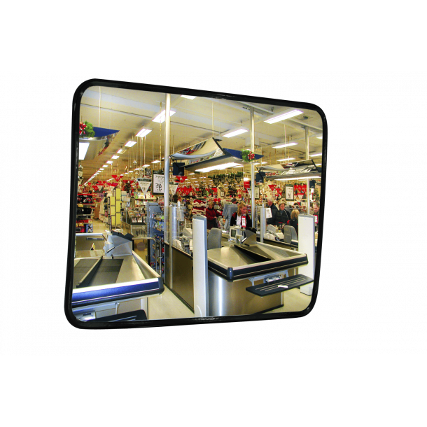 Rustfri INOX Industrispejl - 45x60cm