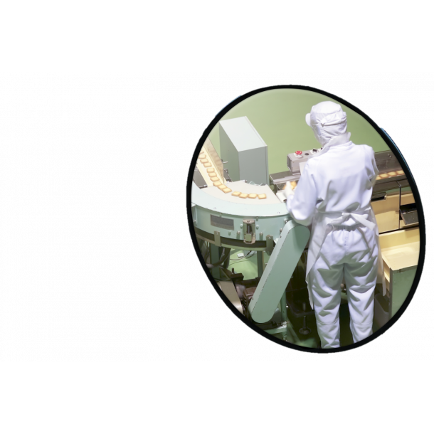 Rustfri INOX Industrispejl - Rund Ø80cm