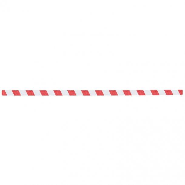 Skridsikker Tape i Ark, Rød/Hvid, Advarende - pk. a' 10 stk.